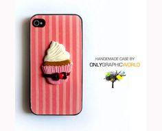 Cover per cellulare con dolce cupcake