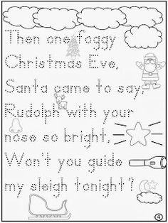 Free: Rudolph The Red Nosed Reindeer Lyric Writing Activity. For Educational Purposes Only....Not For Profit. Enjoy! Regina Davis aka Queen Chaos at Fairy Tales And Fiction By 2.