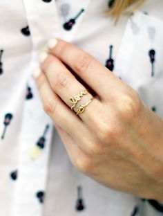 """A PIECE of TOAST// I would really like these rings... particularly the """"love"""" ring. It's pretty and delicate. :)"""