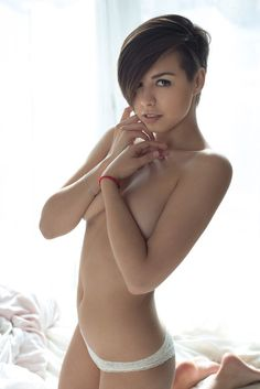 Sexy short haired naked women