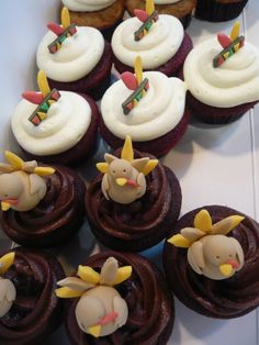 thanksgiving | Check out some of our adorable mini cupcakes we made for Thanksgiving ...