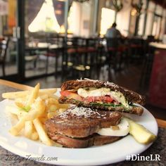 #DineLR The mozzarella tomato sandwich at Dizzy's Gypsy Bistro which is offering 10% off all purchase this week as part of Little Rock Restaurant Month. #dizzysgypsybistro #sandwich #arkansasfood