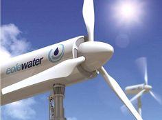 Conceito de turbina eólica poderá coletar mil litros de água do ar