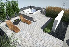 Rooftop terrace with jacuzzi Rooftop Terrace Design, Rooftop Deck, Rooftop Garden, Outdoor Spa, Outdoor Decor, Pergola Plans, Diy Pergola, Hot Tub Patio, Piscina Interior