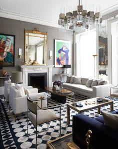 Designer Peter Mikic's London home includes a David Hockney print, custom…