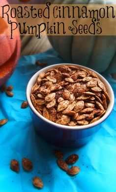 Healthy Snacks: Roasted Cinnamon #Pumpkin Seeds. #MindfulLiving OurMLN.com