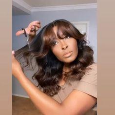 Baddie Hairstyles, Weave Hairstyles, Pretty Hairstyles, Headband Hairstyles, Straight Hairstyles, Natural Hair Styles For Black Women, Light Brown Hair, Ombre Hair, Human Hair Wigs