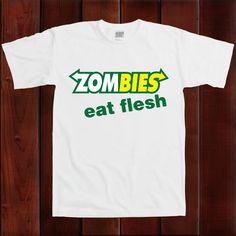 Funny  Zombie Eat Flesh Undead T Shirt  Subway geek by Buckteez