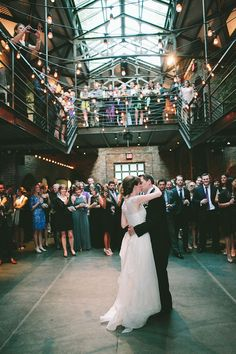 An industrial or urban inspired wedding presents such a unique opportunity to have a truly one-of-a-kind venue! Guests are sure to have fun exploring a cool location and will welcome the change from big traditional ballrooms. Best Wedding Venues, New York Wedding, Wedding Styles, Dream Wedding, Wedding Reception, Industrial Wedding, Industrial Chic, Industrial Stairs, Industrial Closet