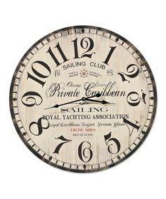 Look what I found on #zulily! 'Sailing Club' Wall Clock #zulilyfinds