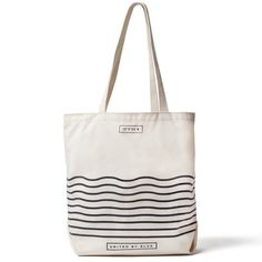 United By Blue Day Tote | United By Blue - straight stripes over wavy ones
