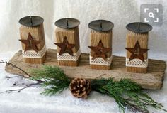 advent candles simple and rustic