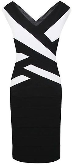 Black Bandage Ottoman Dress - Lyst