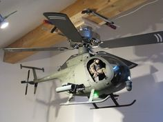 Risultati immagini per helicopter ceiling fan Man Cave Shed, Man Cave Home Bar, Man Cave Garage, Little Bird Helicopter, Army Bedroom, Army Decor, Deco Originale, Decorate Your Room, Home Staging