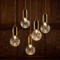 Crystal Bulb with Fitting by Lee Broom #thefutureperfect #brassceilingrose