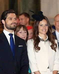 Prince Carl Philip and his fiancée Sofia Hellqvist attend a service in the Royal Chapel in Stockholm, Sweden, on 17.05.2015. The Prince and his bride-to-be announced their impending marriage at a traditional church service in Stockholm. The wedding will take place on June 13, 2015.