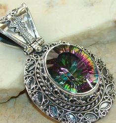 Hand-made Mystic Fire Topaz Jewelry - Buy Mystic Fire Topaz ...