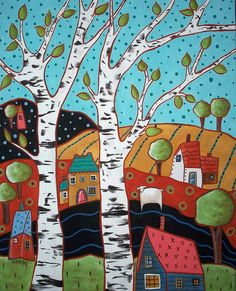 2 Birch Landscape by karlagerard, via Flickr