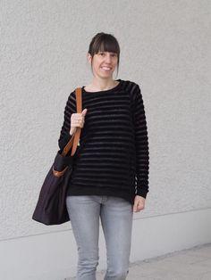 #nähen #damen #velvetstripes #lebenskleidung #nicki #streifen #pulli #pullover #tantehetha #echtknorke #biostoff #organicfabric