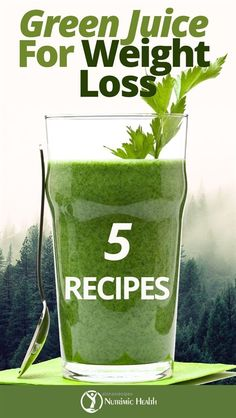 5 Green Juice Recipes for Weight Loss. These 5 delicious green juice recipes for weight loss will get you well on your way to a life of better health. The absolute best green juice recipe is . Lose Weight Fast Diet, Weight Loss Meals, Fast Weight Loss Tips, Weight Loss Detox, Losing Weight, Loose Weight, Reduce Weight, Weight Gain, Weight Control