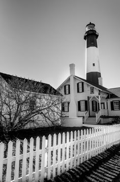 Tybee Lighthouse in Black and White by gabriellepro on 500px