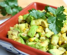 Grilled Zucchini Corn Salad with Cilantro Lime Vinaigrette