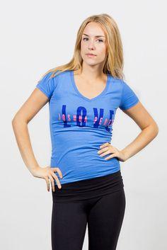 Love Joshua Perets, V neck T-shirt, Graphic Tee, Ladies