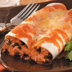 Hearty Chicken Enchiladas - Pretty tasty, very easy, and enough for 4+ people/meals