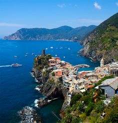 Vernazza, Italy.  I love the blue water
