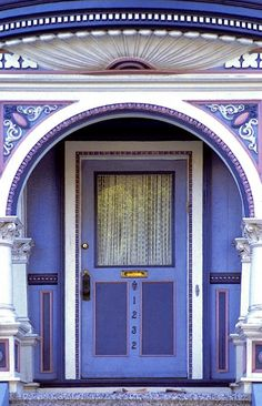 Beautiful ornate door in San Francisco, California USA