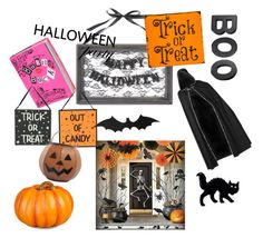 """""""halloween time💀☠️"""" by echo-adi on Polyvore featuring interior, interiors, interior design, home, home decor, interior decorating, Improvements, Tag, Crate and Barrel and Halloweenparty"""