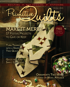 I am soooooooooooooo excited about this I can't stand it! The NEW issue of Primitive Quilts and Projects Magazine - Winter 2015 - will be here soon... and my quilt 'Seedlings' is on the cover!!! How funtastic is that!!!