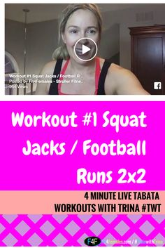 Tabata Workout #1 Squat Jacks / Football Runs 2x2  REPIN AND INVITE A FRIEND