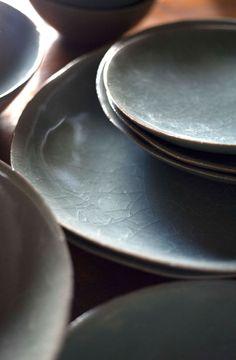 Crazed Ceramics (grayish blue color) | [ JURGEN LEHL ] Online Shop
