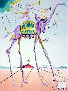 Celestial Elephant (Space Elephant) 1979 Lithograph by Salvador Dali. Salvador Dali Archives. Reference: The Official Catalog of The Graphic Works of Salvador Dali By Albert Field, page 184 79-5