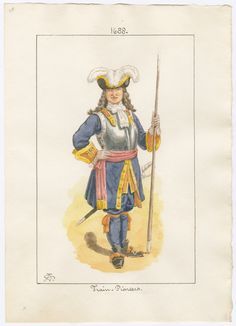 British; The Train, Pioneer Officer 1688 by Charles Lyall
