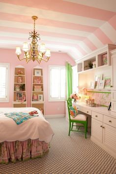 Little Girl Room Decor Ideas . 24 Awesome Little Girl Room Decor Ideas . Little Girls Bedroom Girls Room Design, Girls Room Decor, Bedroom Decor, Toddler Rooms, Kid Room Decor, Bedroom Design, Remodel Bedroom, Toddler Boys Room, Striped Ceiling