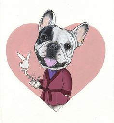 French Bulldog drawing by Jeroen Teunen, Frenchie sketchbook page