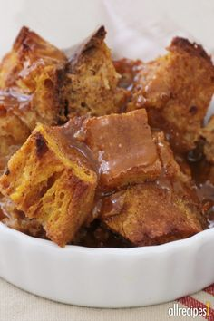 "Pumpkin Pie Bread Pudding | ""This was our Thanksgiving dessert and EVERYONE thought it was a HUGE success."""