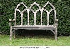 Beautiful 'gothic' seat - like church windows!