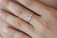 30% OFF Personalized Name Ring in Sterling by SilverHandwriting
