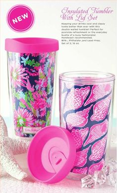 Keeping your drinks cool and classy looks better than ever with this double walled tumbler in Cute As Shell & Trippin and Sippin! Perfect for poolside refreshment or the everyday bustle of a busy fashionista! Set of 2 Hand-wash recommended BPA-, Phthalate-, and Lead-Free 16 oz. Trippin And Sippin Navy/Cute As Shell