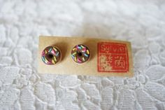 Round She Goes - Market Place - Chocolate Donut Polymer Clay Stud Earrings