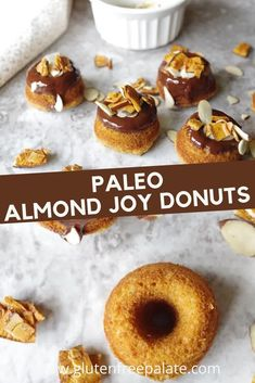 Best paleo donuts! You're going to love how easy these paleo donuts are to make. Only a few ingredients and a couple of simple steps. Gluten Free Quick Bread, Gluten Free Coffee Cake, Easy Gluten Free Desserts, Gluten Free Donuts, Gluten Free Recipes For Breakfast, Gluten Free Dinner, Gluten Free Breakfasts, Gluten Free Baking, Paleo Donut