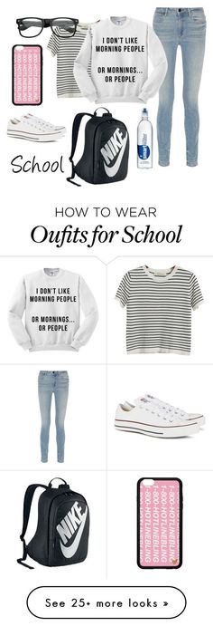 """School days"" by bribri74 on Polyvore featuring NIKE, Chicnova Fashion, Alexande..."