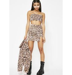 21c3265925 Clara Story Free, fast shipping on Boujee Babe Leopard Set at Dolls Kill,  an online boutique for punk and rock fashion. Shop graphic tees, bodysuits,  ...