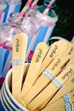 Add a personal touch to your next ice cream soirée! #IceCream #Entertaining
