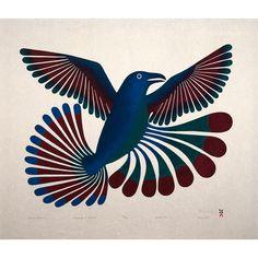 Ravens Return - print by KENOJUAK ASHEVAK (1927-2013)