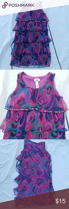 Justice ruffle sequin dress girls Multicolor with sequin Accents in good condition size 12. Please check out my other listings and add to a bundle for a fabulous deal. I'm also happy to drop the price to trigger discounted shipping one appropriate just leave me a comment if you would like me to Justice Dresses Casual