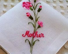 Pink Carnations, Tableware, Creative, Diy, Cottage, Embroidery, Dinnerware, Bricolage, Dishes
